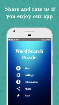 Word Search pattern Puzzle poster