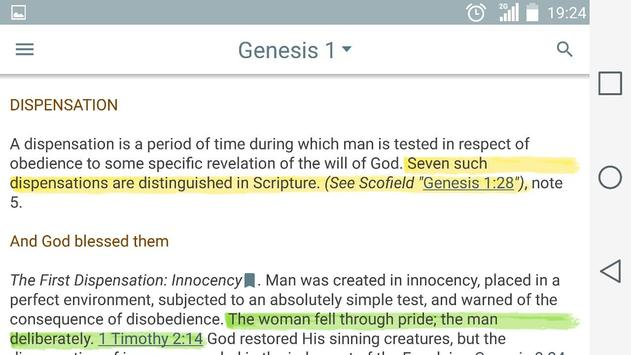 Scofield Reference Bible Notes screenshot 6