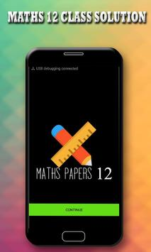 MATHS PAPER SOLUTION 12TH CLASS poster