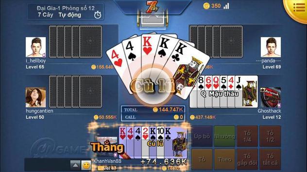 Danh bai doi the, Game danh bai doi thuong poster