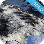 Winter Waterfall Video LWP icon