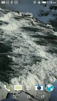 Winter Waterfall Video LWP screenshot 4