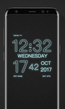 WP Digital Wallpaper Clock apk screenshot