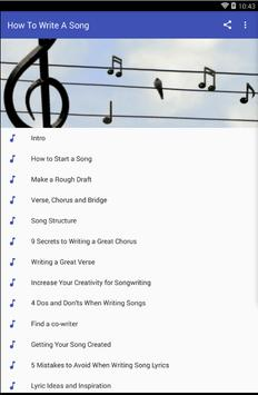 HOW TO WRITE A SONG poster