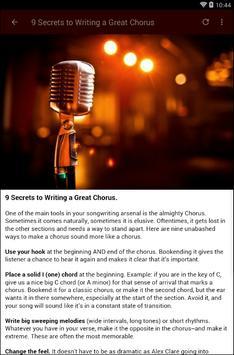 HOW TO WRITE A SONG apk screenshot