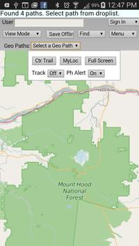 Geo-location on a Trail poster