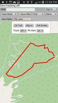 Geo-location on a Trail apk screenshot