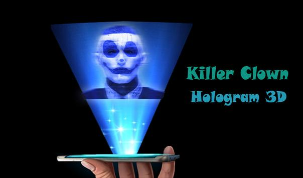 Killer Clown Hologram 3D Joke poster