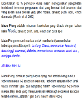 Madu Plong !! screenshot 3