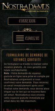 Voyance Gratuite Nostradamus poster