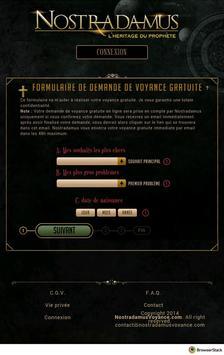 Voyance Gratuite Nostradamus apk screenshot
