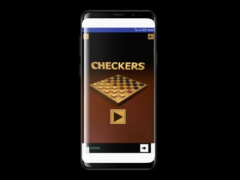 Free Checkers Game Offline poster