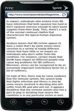 Irritable Bowel Syndrome screenshot 1