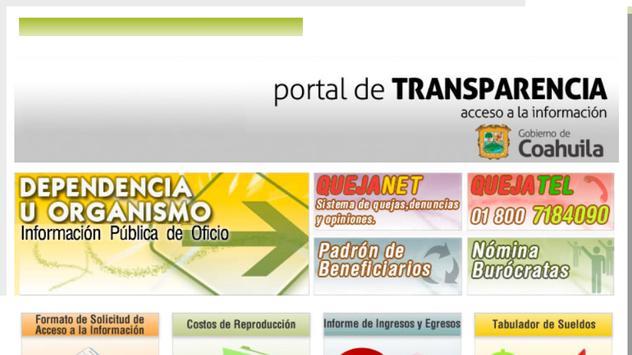 Sitai Coahuila MX - Transparencia y Acceso a Info. poster