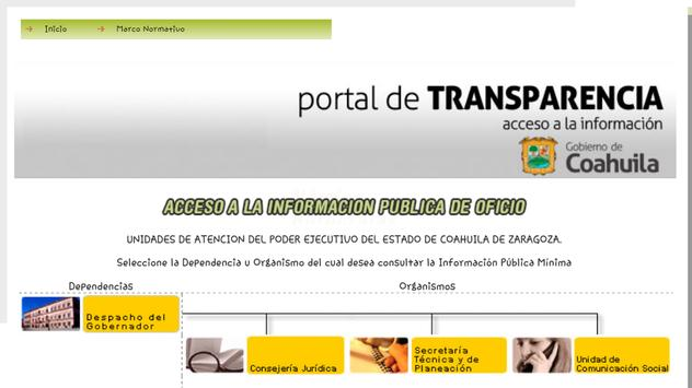 Sitai Coahuila MX - Transparencia y Acceso a Info. screenshot 1