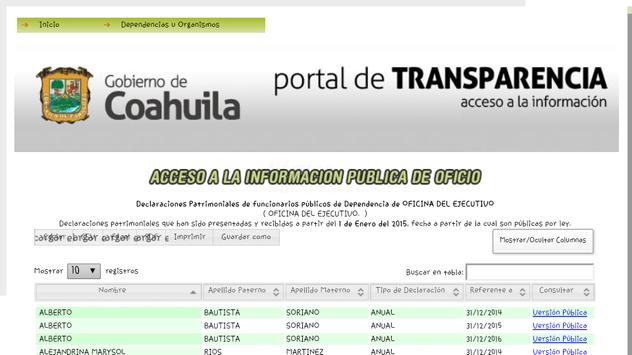 Sitai Coahuila MX - Transparencia y Acceso a Info. screenshot 3