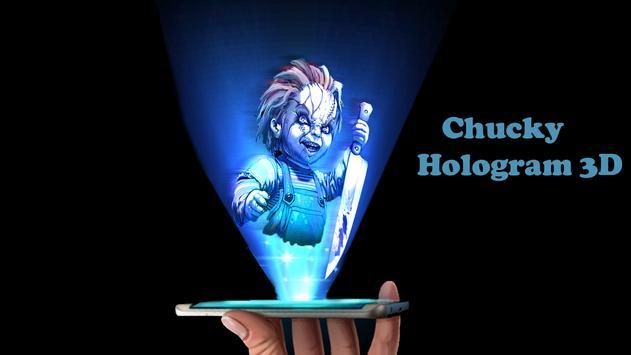 Chucky Hologram 3D Joke poster