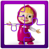 Puzzles game for Masha and the Bear icon