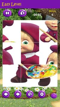 Puzzles game for Masha and the Bear poster