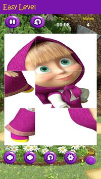 Puzzles game for Masha and the Bear screenshot 2