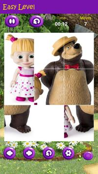 Puzzles game for Masha and the Bear screenshot 3
