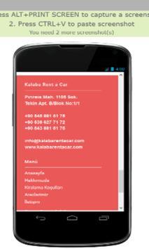 Kalaba rentacar screenshot 1