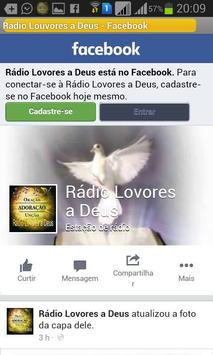 Rádio Louvores a Deus screenshot 1