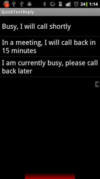 Quick Text Reply Full apk screenshot