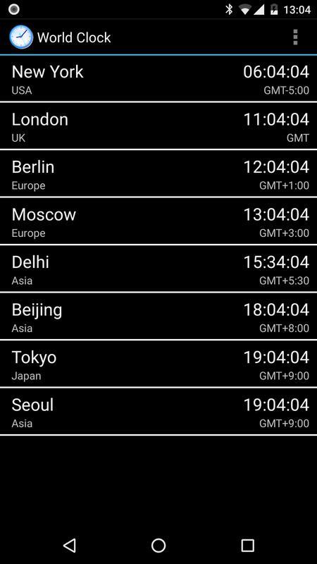 e7b4b98e23f Relógio Mundial para Android - APK Baixar