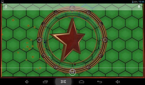 Star Clock Live Wallpaper Free apk screenshot
