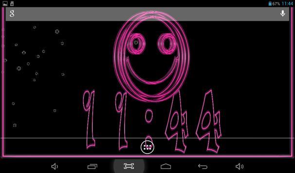 Clock Smile Free LWP apk screenshot