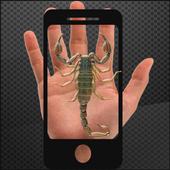 Scorpion on hand Camera prank icon