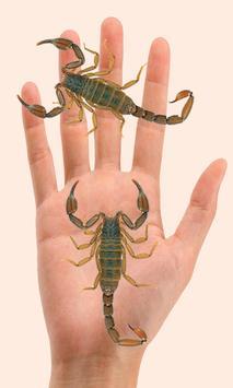 Scorpion on hand Camera prank apk screenshot