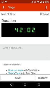 Self Tracker apk screenshot