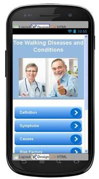 Toe Walking Disease & Symptoms poster