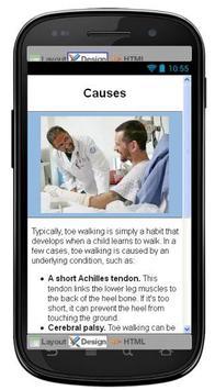 Toe Walking Disease & Symptoms apk screenshot