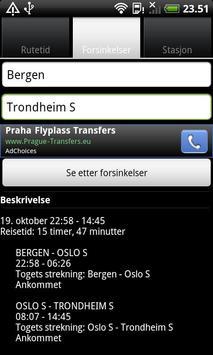 Togtider screenshot 1