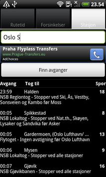 Togtider screenshot 2