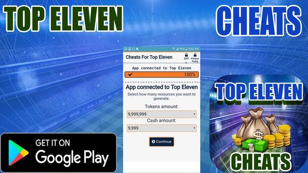 Cheats For Top Eleven Prank screenshot 1