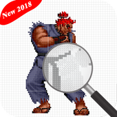 Color By Numbers Street Fighter V 2018 - PiXel Art icon