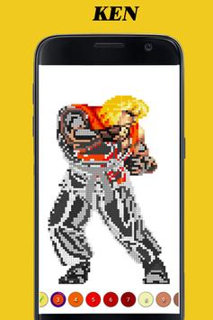 Color By Numbers Street Fighter V 2018 - PiXel Art screenshot 1