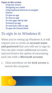 Window 8 Tutorial screenshot 1