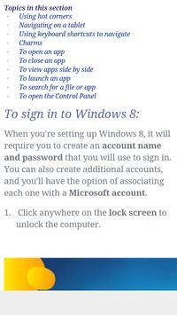 Window 8 Tutorial apk screenshot
