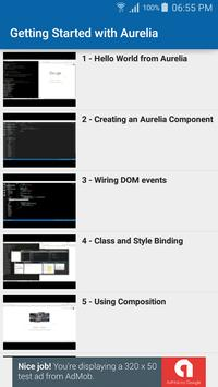 Learn Aurelia apk screenshot
