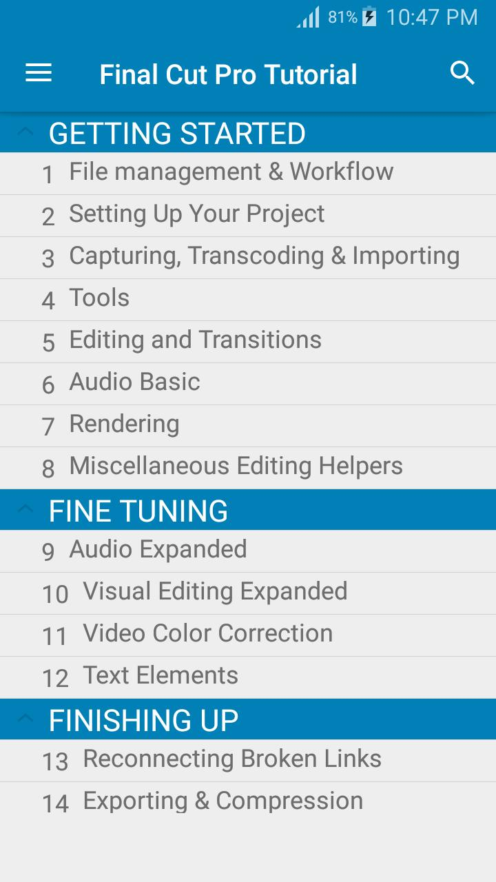 Final Cut Pro Tutorial for Android - APK Download
