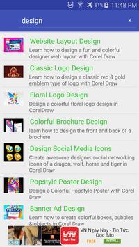 Tutorial Corel Draw apk screenshot