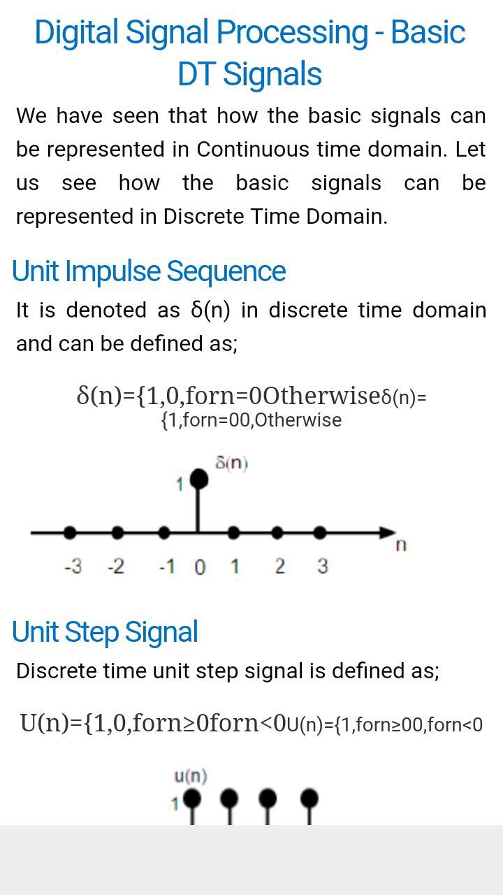 Time domain digital signals