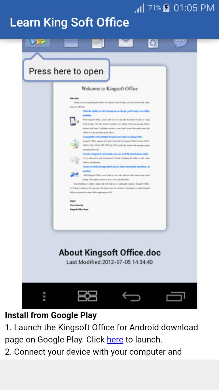 Learn King Soft Office for Android - APK Download
