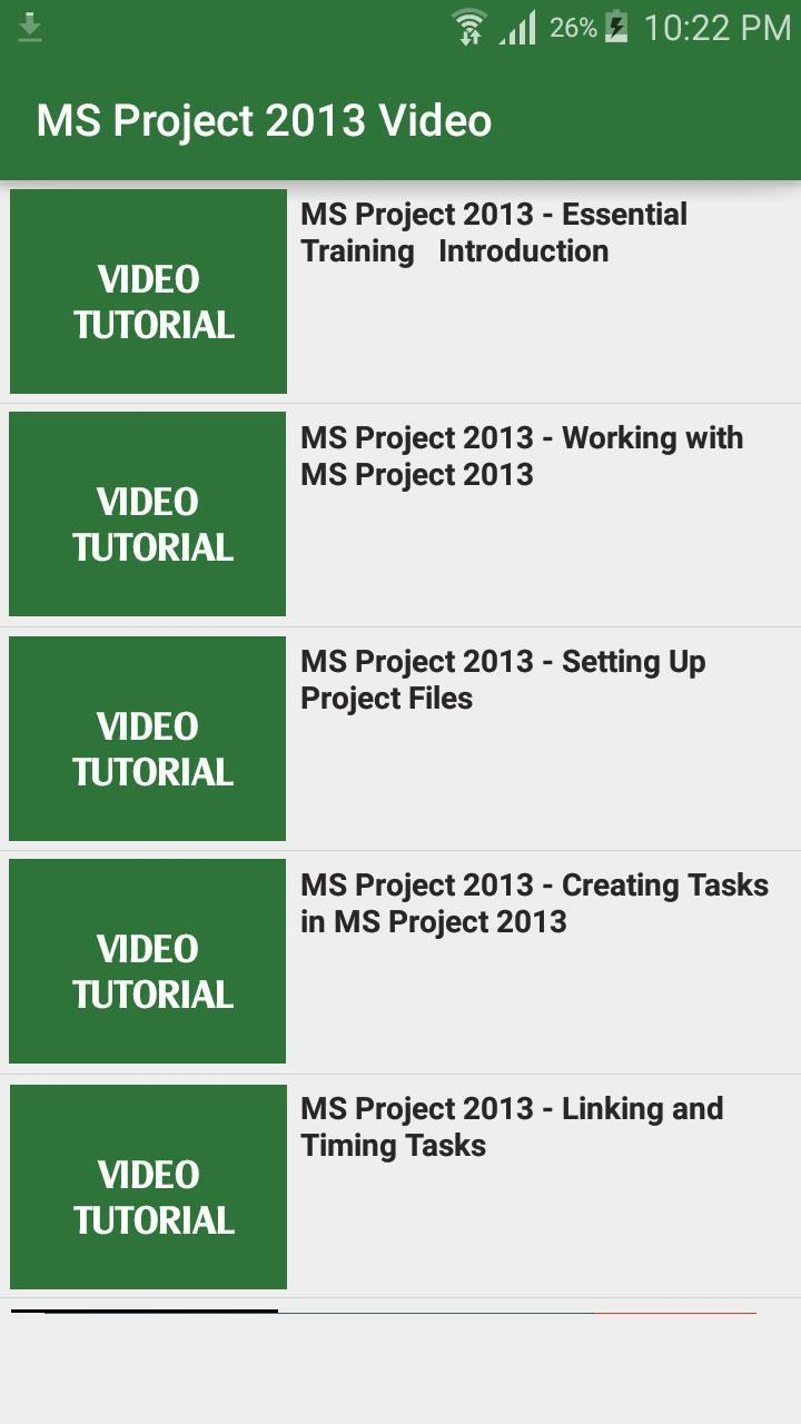 Learn MS Project for Android - APK Download