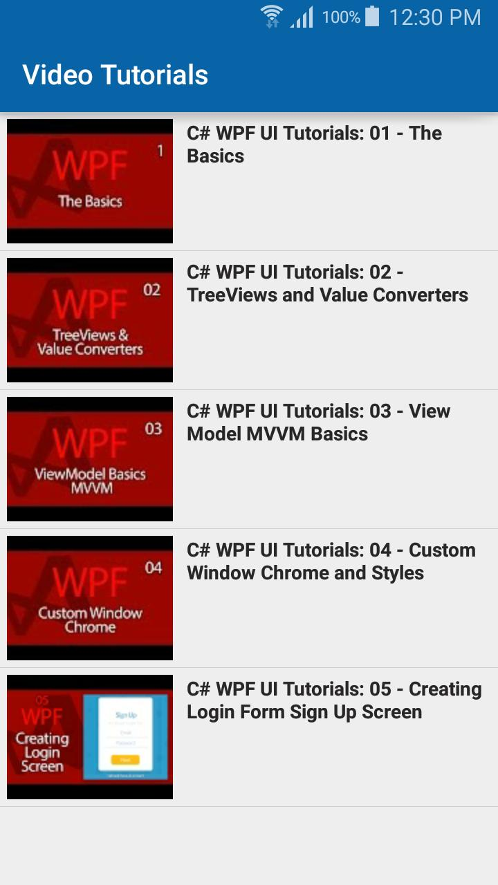 Learn WPF for Android - APK Download